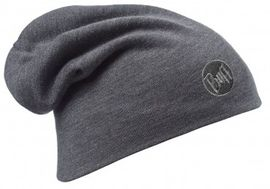 111170.937 HEAVY MERINO WOOL HAT/SOLID GREY- BUFF