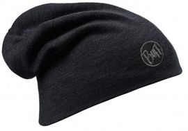 111170.999 HEAVY MERINO WOOL HAT/SOLID BLACK- BUFF