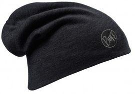 111170.999 HEAVY MERINO WOOL HAT/SOLID BLACK- BUFF