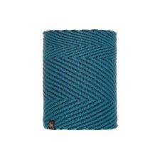 117860.710 KNITTED & POLAR NECKWARMER SILJA DEEP BLUE -BUFF