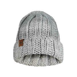120834.938 KNITTED HAT VANYA MELANGE GREY -BUFF