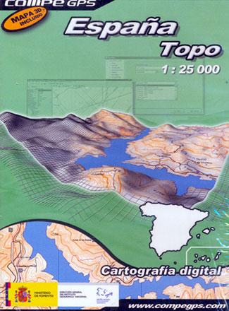 ESPAÑA TOPO 1:25.000 CARTOGRAFIA DIGITAL -COMPE GPS