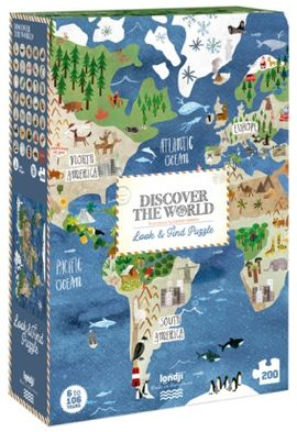DISCOVER THE WORLD PUZZLE. 200 PECES -LONDJI