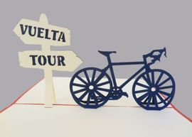 BICI TOUR VUELTA. TARJETA POP UP -KIRIARTE