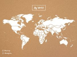 WOODY MAP -XL BLANCO [MAPA DE CORCHO MURAL][90X60] -MISS WOOD