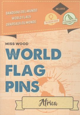 AFRICA [CAJA] -WORLD FLAG PINS -MISS WOOD