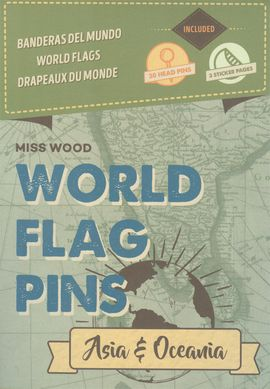 ASIA & OCEANIA [CAJA] -WORLD FLAG PINS -MISS WOOD