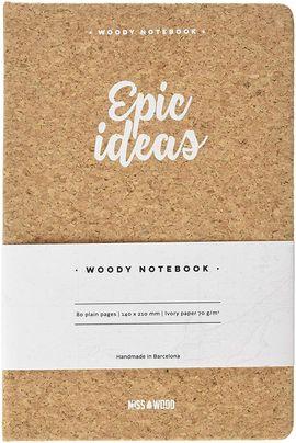 EPIC IDEAS A5 WOODY NOTEBOOK CORK [LIBRETA TAPAS DE CORCHO] -MISS WOOD