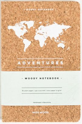 ADVENTURES A5 WOODY NOTEBOOK CORK [LIBRETA TAPAS DE CORCHO] -MISS WOOD