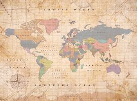 WOODY MAP WATERCOLOR -L OLD SCHOOL [MAPA DE CORCHO MURAL][60X45] -MISS WOOD