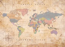 WOODY MAP WATERCOLOR -XL OLD SCHOOL [MAPA DE CORCHO MURAL] [90X60] -MISS WOOD