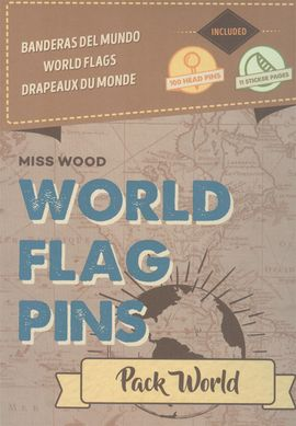 PACK WORLD [CAJA] -WORLD FLAG PINS -MISS WOOD