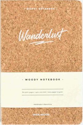 WANDERLUST A5 WOODY NOTEBOOK CORK [LIBRETA TAPAS DE CORCHO] -MISS WOOD