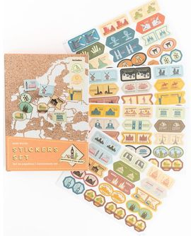 STICKERS SET [CAJA]  -MONUMENTS OF THE WORLD -MISS WOOD