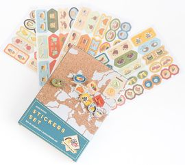 STICKERS SET [CAJA] -FOOD OF THE WORLD -MISS WOOD
