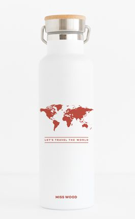 WOODY BOTTLE -WORLD (RED) -MISS WOOD