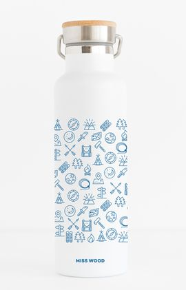 WOODY BOTTLE -PATTERN (BLUE) -MISS WOOD