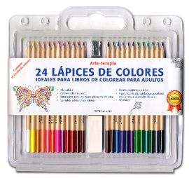 SET 24 LAPICES DE COLORES - ARTE-TERAPIA