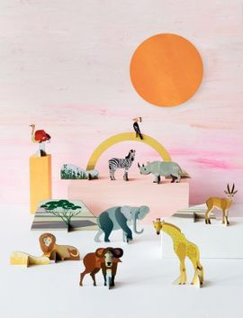 ANIMALES SABANA POP OUT & PLAY -STUDIO ROOF