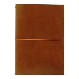 GRAND VOYAGEUR XL [LIBRETA] COGNAC/ORANGE RIBBON A5 [15X21] -PAPER REBUBLIC