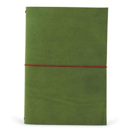 GRAND VOYAGEUR XL [LIBRETA] GREEN/RED RIBBON A5 [15X21] -PAPER REBUBLIC