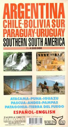 ARGENTINA 1:4.000.000 -CHILE BOLIVIA SUR PARAGUAY-URUGUAY