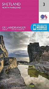 SHETLAND 1:50.000- NORTH MAINLAND. LANDRANGER MAP 3