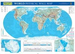 WORLD PHYSICAL, WALL MAP [MURAL] 1:40.500.000 -PHILIP'S