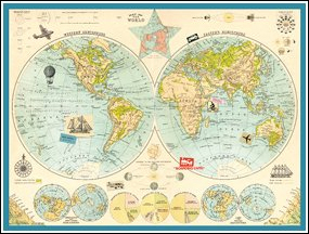 MAP OF THE WORLD [PUZZLE] [1000 PIECE PUZZLE]