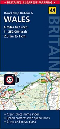 WALES 1:250.000 (GB 6) -AA PUBLISHING