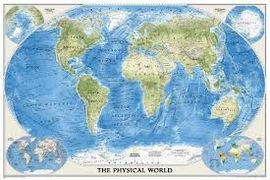 622010 WORLD PHYSICAL [MURAL] 1:35.842.000 - NATIONAL GEOGRAPHIC