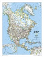 NORTH AMERICA [MURAL] 1:14.009.000 -NATIONAL GEOGRAPHIC