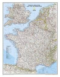 FRANCE [CLASSIC] [MURAL] 1:1.953.000- NATIONAL GEOGRAPHIC