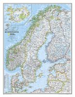 SCANDINAVIA CLASSIC [MURAL PLASTIFICAT] 1:2.765.000 -NATIONAL GEOGRAPHIC