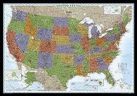 USA DECORATOR 1:4.560.000 -NATIONAL GEOGRAPHIC