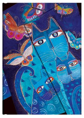 BLUE CATS MINI [10X14] LAUREL BURCH. FELINOS FANTASTICOS -PAPERBLANKS