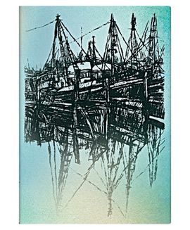BOATS AND REFLECTIONS MIDI [12,4X17,9] ALISTAIR BELL COLLECTION -PAPERBLANKS