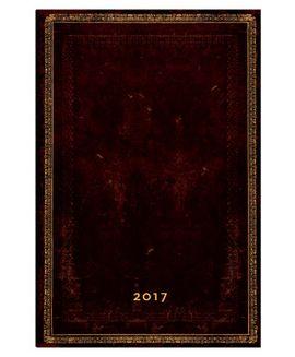 2017 BLACK MOROCCAN [SEMANAL] AGENDA -PAPERBLANKS