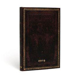 2019 AGENDA BLACK MOROCCAN [13X21] -PAPERBLANKS
