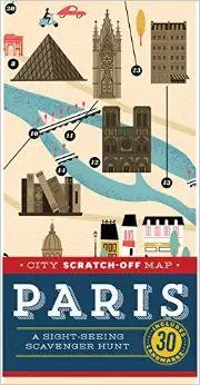 PARIS CITY SCRATCH-OFF MAP
