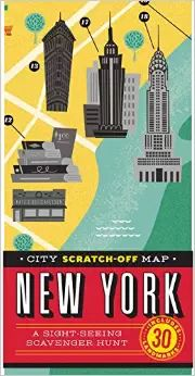 NEW YORK CITY SCRATCH-OFF MAP