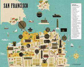 SAN FRANCISCO -CITY SCRATH-OFF MAP