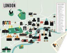 LONDON -CITY SCRATCH-OFF MAP