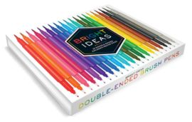 BRIGHT IDEAS: 20 DOUBLE-ENDED COLORED BRUSH PENS -LLR