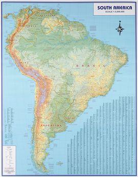 SOUTH AMERICA [MURAL PLASTIFICAT AMB VARILLES] [1:5.000.000] -ITMB