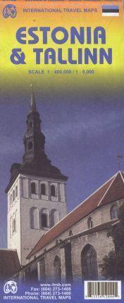 ESTONIA 1:400.000 & TALLINN 1:8.000 -ITMB