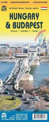 HUNGARY 1:540.000 & BUDAPEST 1:10.000 -ITMB