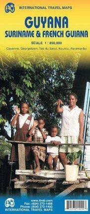 GUYANA, SURINAME & FRENCH GUIANA 1:850.000 -ITMB