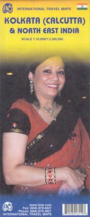 KOLKATA (CALCUTA) 1:10000 & NORTHEAST INDIA 1:2.300.000-ITMB