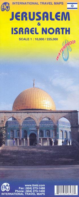 JERUSALEM & ISRAEL NORTH 1:10.000/1:225.000 - ITMB